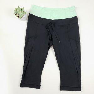 Lululemon Capri Leggings Drawstring SZ 10